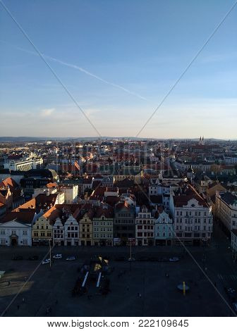 Photo of Plzen city from the Bartolomeu's church