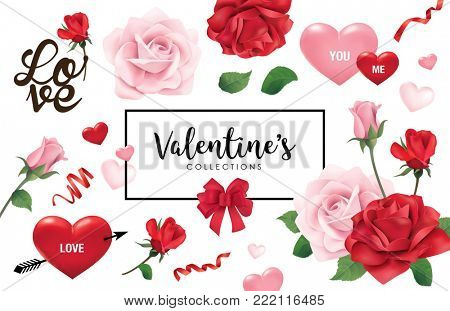 Set of Valentine's day design elements