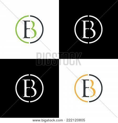 EB letter logo design vector illustration template, E letter logo vector, letter E and B logo vector, creative Letter EB letter logo