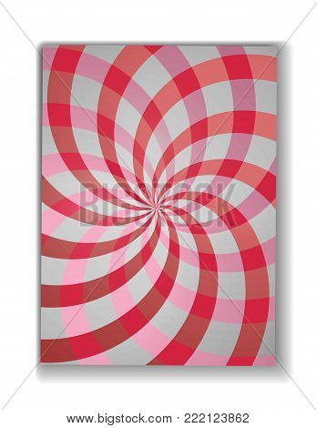 Swirling radial pattern background. Vector illustration for swirl design. Helix rotation rays.Double helix