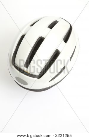 A White Bicycle Helmet
