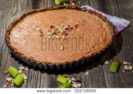 Rhubarb Pie In A Tray