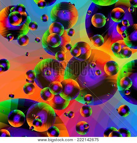 Bright Multicolor Babble Background   - Fractal Art