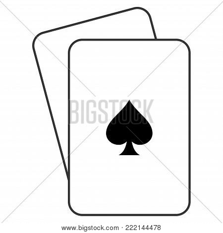 Peaks Suit playing cards icon. Vector style is gambling card with peaks suit symbol.