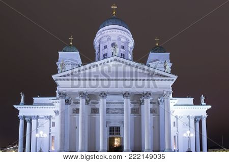 Renowned Places and Tourist Destinations. Old Lutheran Cathedral in Helsinki, Finland.Horizontal Image Orientation