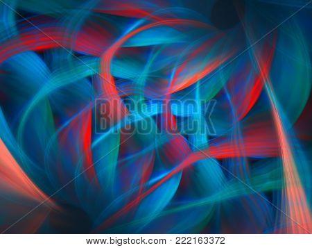 Bright Exuberant Pinnate Background    - Fractal Art
