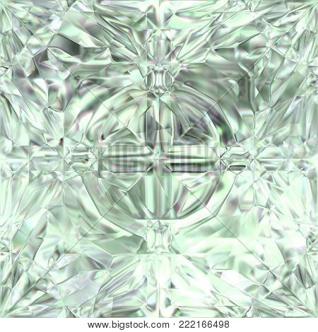 Seamless Brilliance Carved Glass Texture - Continuous Pattern