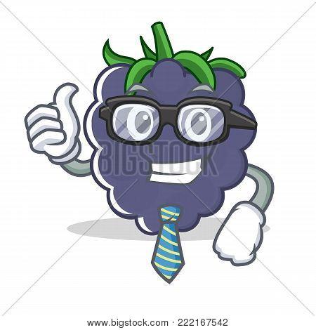 Businessman blackberry character cartoon style vector illustration