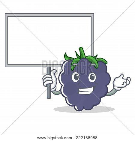 Bring board blackberry character cartoon style vector illustration