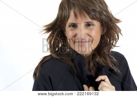 Mature Woman Pulling Her Hair