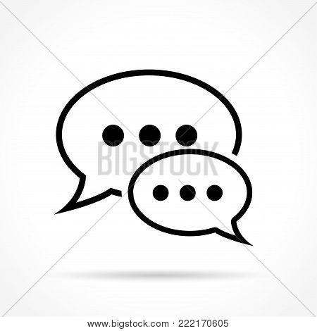 Illustration of speech bubbles thin line icon design