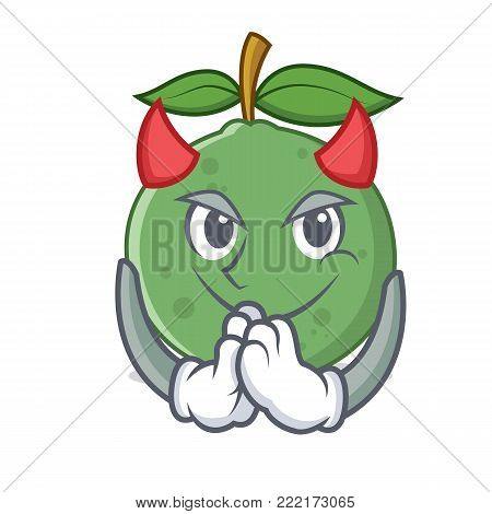 Devil guava mascot cartoon style vector illustration