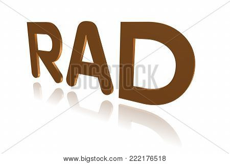 Programming Term - Rad - Rapid Application Development -  3d Image