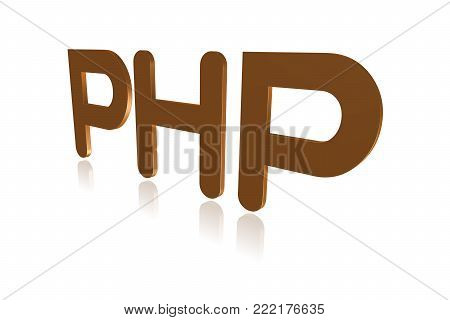 Programming Term - Php - Hypertext Preprocessor -  3d Image