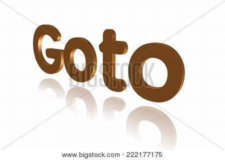 Programming Term - Goto  - Programming Term - 3d Image