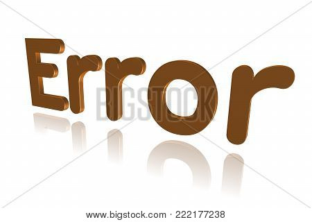 Programming Term - Error   - 3d Image