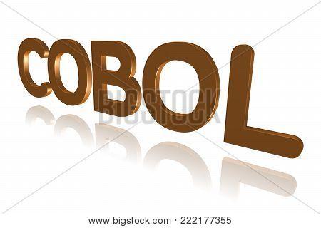 Programming Term - Cobol - Common Business Oriented Language - 3d Image