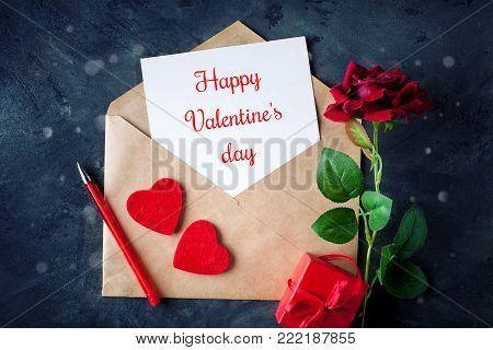 Happy Valentine's day. Congratulatory background by St. Valentine's Day.