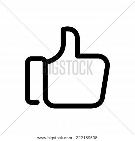 Like icon isolated on white background. Like icon modern symbol for graphic and web design. Like icon simple sign for logo, web, app, UI. Like icon flat vector illustration, EPS10.