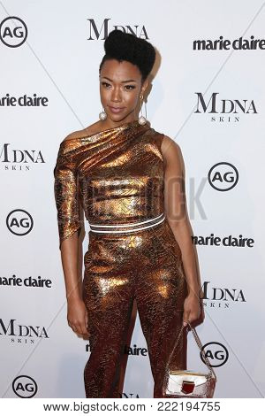 LOS ANGELES - JAN 11:  Sonequa Martin-Green at the Marie Claire Image Makers Awards 2018 at the Delilah on January 11, 2018 in West Hollywood, CA