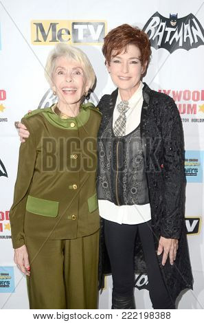 LOS ANGELES - JAN 10:  Barbara Rush, Carolyn Hennesy at the Batman '66 Retrospective and Batman Exhibit Opening Night at the Hollywood Museum on January 10, 2018 in Los Angeles, CA