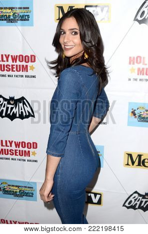 LOS ANGELES - JAN 10:  Camila Banus at the Batman '66 Retrospective and Batman Exhibit Opening Night at the Hollywood Museum on January 10, 2018 in Los Angeles, CA