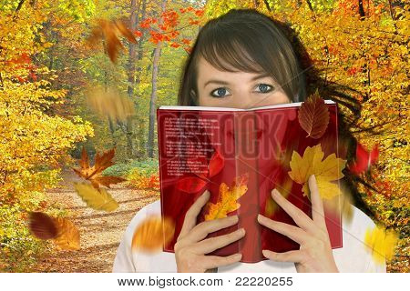 Woman reading a book / fantasy