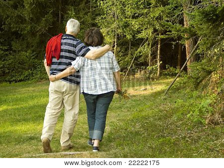 "attractive married mature couple enjoying the nature. keyword for this collection is ""seniors77"""