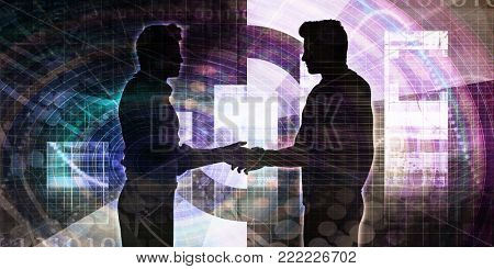 Businessmen Handshaking to Strike a Deal as Concept
