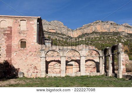 cloister of Escaladei, Priorat, Tarragona province, Catalonia, Spain