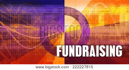Fundraising Focus Concept on a Futuristic Abstract Background