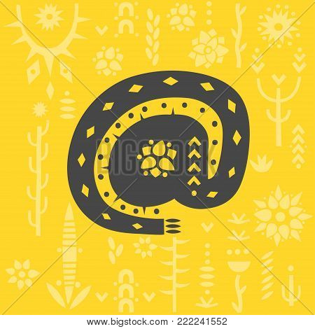E-mail sign decorated with floral ornament on yellow background.