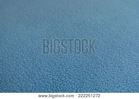 Closeup of sky blue polar fleece fabric