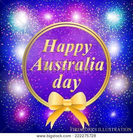 Happy Australia day background. Happy Australia day lettering. Vector illustration for holiday Australia.