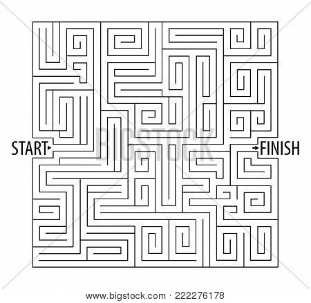 Find the right way. Logical games. Maze Game. Tangled lines. Vector illustration. Isolated on white background