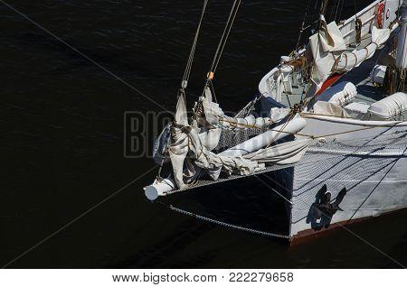 SAILING VESSEL - Finnish Gaff schooner in the port