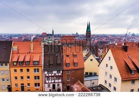 View from the Castle of Nuremberg, Germany.