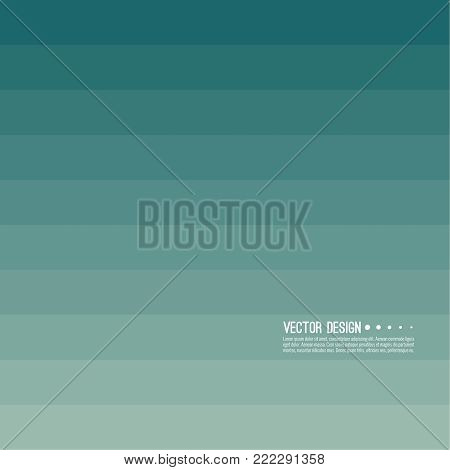 Abstract background with rhythmic rectangular horizontal stripes. Transition and gradation of color. Vector blend gradient for illustrations, covers and flyers. Color green, blue, turquoise.