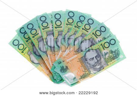 Australian 100 Dollar Note Bills Money