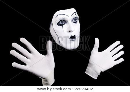 Mime Face And Hands