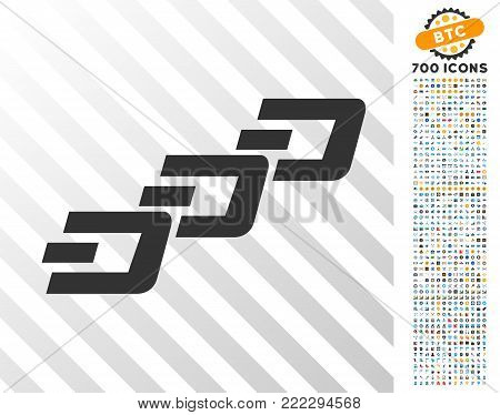 Dash Chain pictograph with 7 hundred bonus bitcoin mining and blockchain clip art. Vector illustration style is flat iconic symbols designed for bitcoin websites.