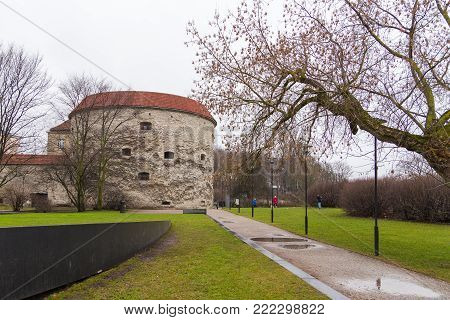 View Of The Fat Margaret Tower In Tallinn.