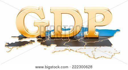 gross domestic product GDP of Estonia concept, 3D rendering isolated on white background