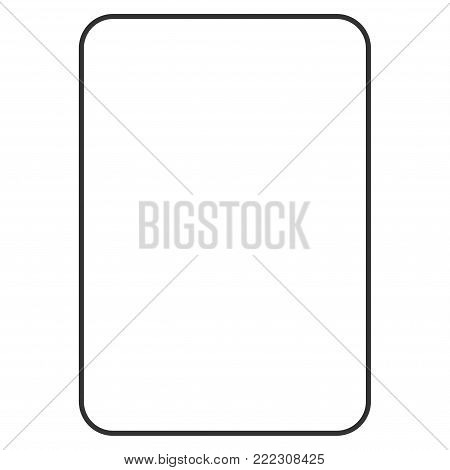 Palying Card Template vector icon. Style is flat graphic symbol.