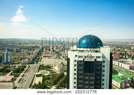 Russia. Chechen Republic. Grozny city observation deck September 1 2017