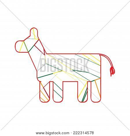 Isolated pinata icon on a white background, Vector illustration