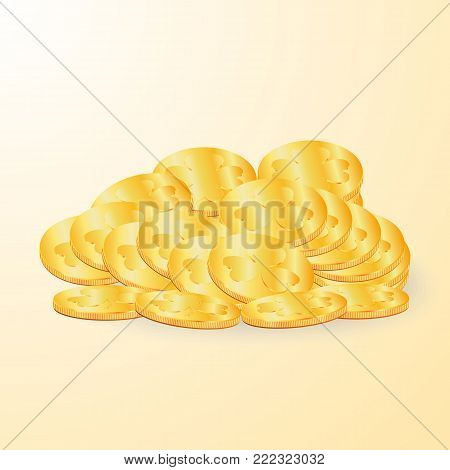 Gold coins for St. patrick's day. Vector illustration.