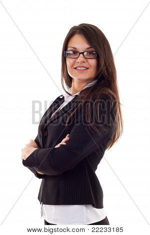 Beautiful Business Woman Standing