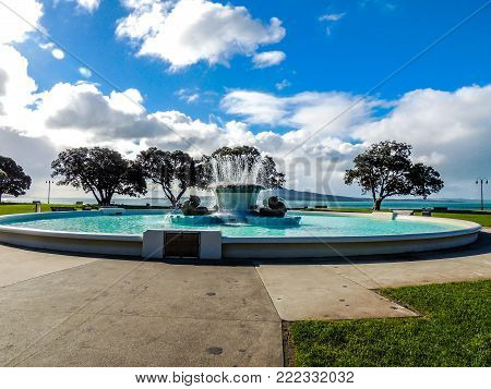 Trevor Moss Davis Memorial Fountain, Mission Bay, Auckland, New Zealand