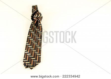 Close-up of necktie cravat Object on a White Background poster